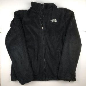 The North Face Fleece Black Jacket Womens X-Large